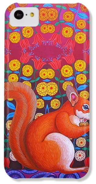 Red Squirrel IPhone 5c Case by Jane Tattersfield