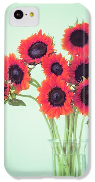 Red Sunflowers IPhone 5c Case by Amy Tyler