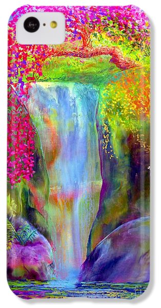 Waterfall And White Peacock, Redbud Falls IPhone 5c Case by Jane Small