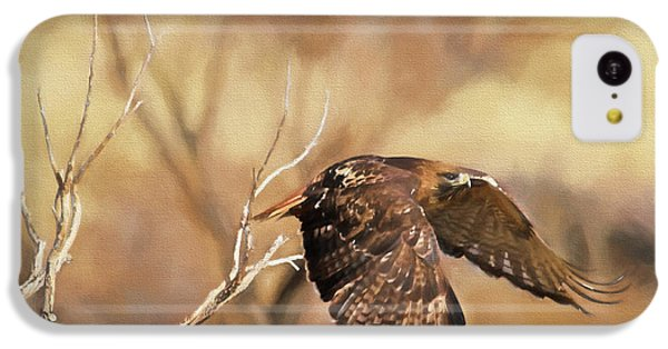 Redtail On The Move IPhone 5c Case by Donna Kennedy