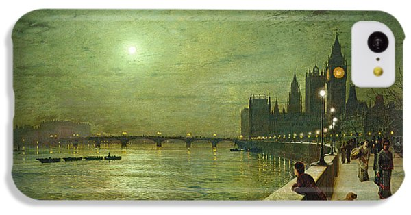 Reflections On The Thames IPhone 5c Case by John Atkinson Grimshaw