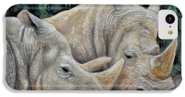 Rhinos IPhone 5c Case by Sam Davis Johnson