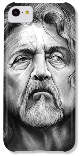 Robert Plant IPhone 5c Case by Greg Joens