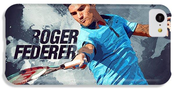 Roger Federer IPhone 5c Case by Semih Yurdabak