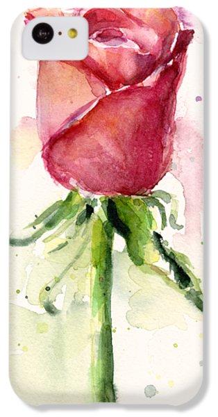 Rose Watercolor IPhone 5c Case by Olga Shvartsur