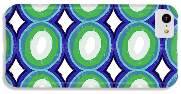 Round And Round Blue And Green- Art By Linda Woods IPhone 5c Case by Linda Woods