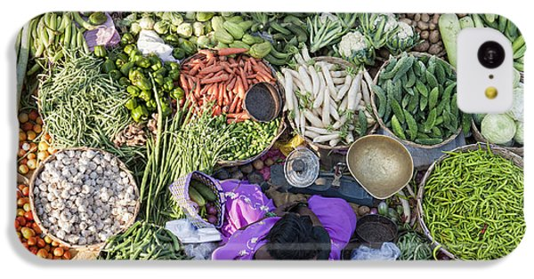 Rural Indian Vegetable Market IPhone 5c Case by Tim Gainey