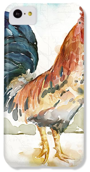 Rust Rooster IPhone 5c Case by Mauro DeVereaux