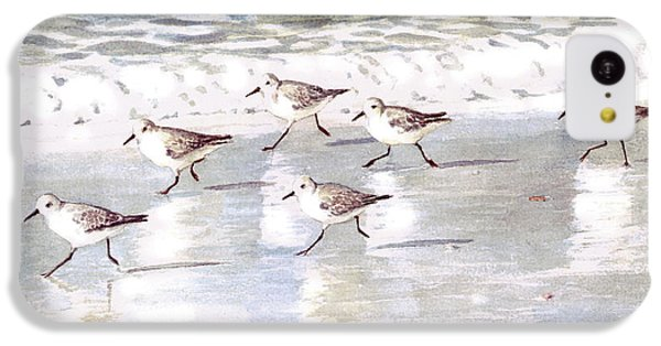 Sandpipers On Siesta Key IPhone 5c Case by Shawn McLoughlin