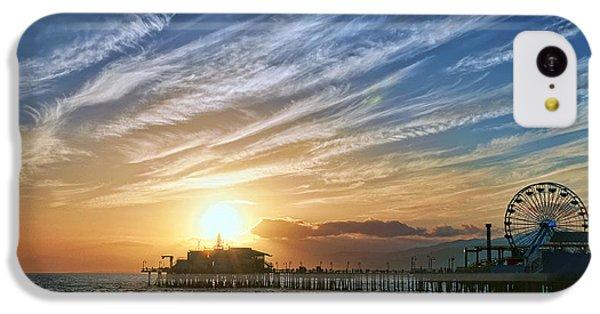 Santa Monica Pier IPhone 5c Case by Eddie Yerkish