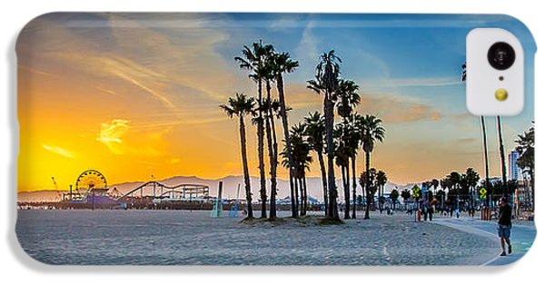Santa Monica Sunset IPhone 5c Case by Az Jackson