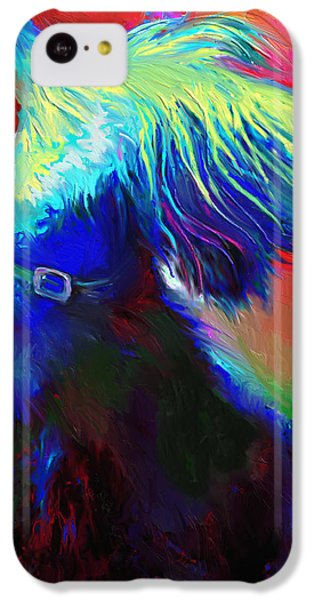 Scottish Terrier Dog Painting IPhone 5c Case by Svetlana Novikova