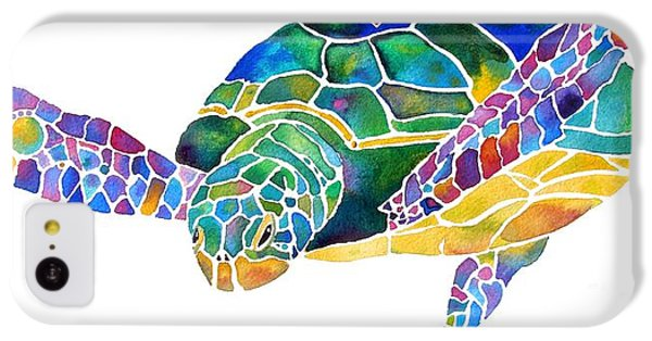 Sea Turtle Celebration 4 Prints Only IPhone 5c Case by Jo Lynch