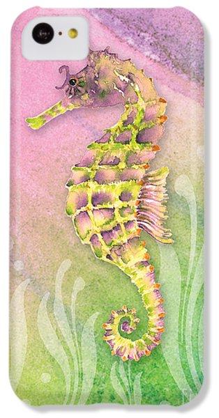 Seahorse Violet IPhone 5c Case by Amy Kirkpatrick