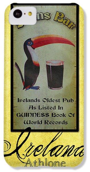 Seans Bar Guinness Pub Sign Athlone Ireland IPhone 5c Case by Teresa Mucha