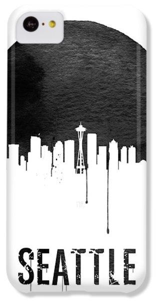 Seattle Skyline White IPhone 5c Case by Naxart Studio