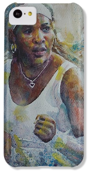Serena Williams - Portrait 5 IPhone 5c Case by Baresh Kebar - Kibar