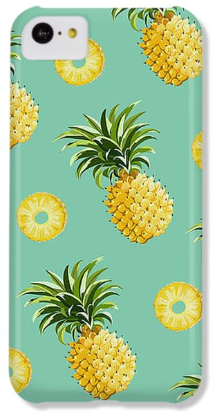 Set Of Pineapples IPhone 5c Case by Vitor Costa