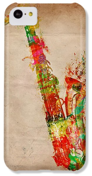 Sexy Saxaphone IPhone 5c Case by Nikki Smith