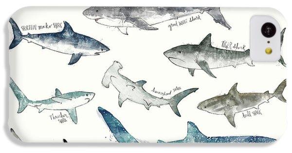 Sharks - Landscape Format IPhone 5c Case by Amy Hamilton