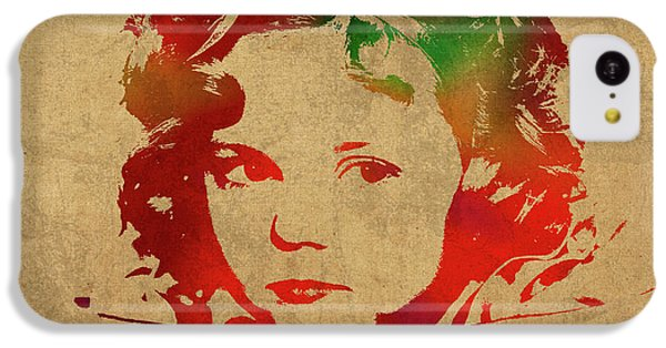 Shirley Temple Watercolor Portrait IPhone 5c Case by Design Turnpike