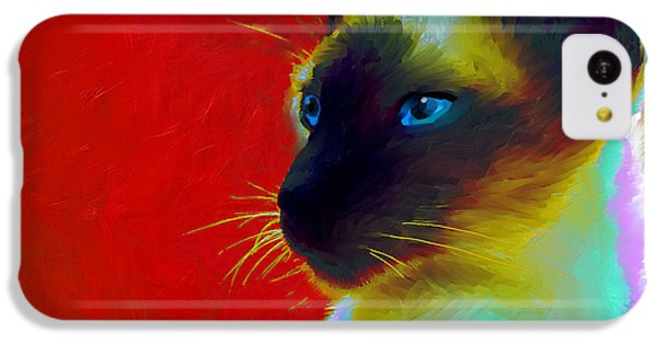 Siamese Cat 10 Painting IPhone 5c Case by Svetlana Novikova