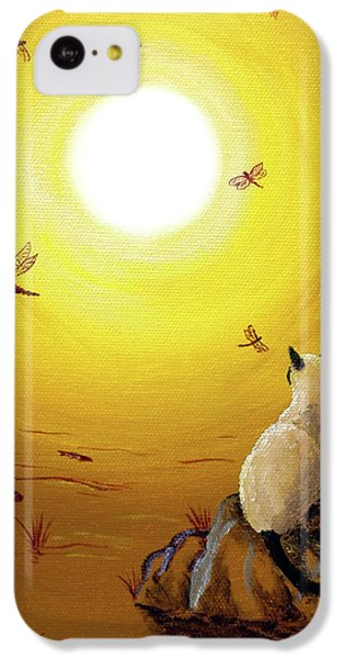 Siamese Cat With Red Dragonflies IPhone 5c Case by Laura Iverson