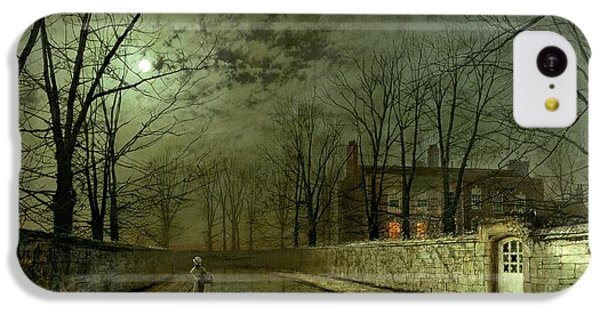 Silver Moonlight IPhone 5c Case by John Atkinson Grimshaw