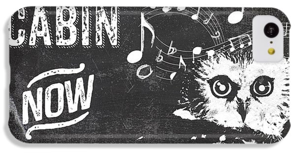 Singing Owl Cabin Rustic Sign IPhone 5c Case by Mindy Sommers