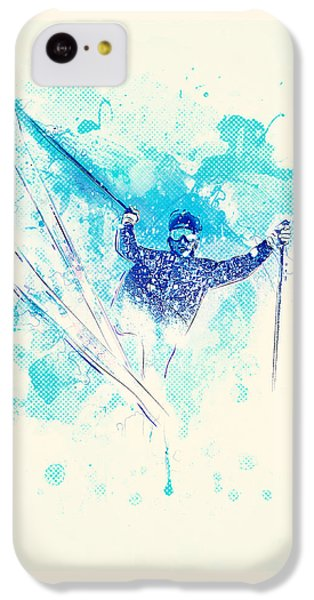 Skiing Down The Hill IPhone 5c Case by BONB Creative