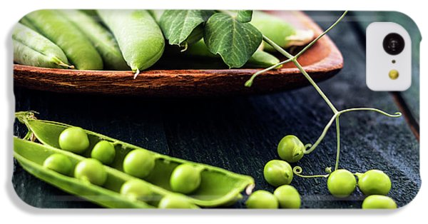 Snow Peas Or Green Peas Still Life IPhone 5c Case by Vishwanath Bhat
