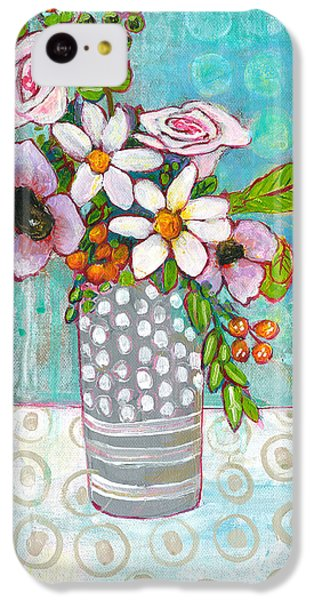 Sophia Daisy Flowers IPhone 5c Case by Blenda Studio