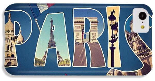 Souvernirs De Paris IPhone 5c Case by Delphimages Photo Creations