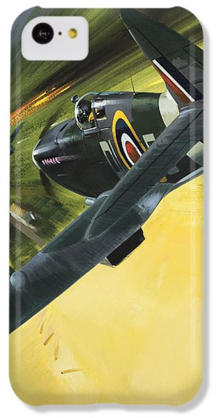 Spitfire And Doodle Bug IPhone 5c Case by Wilf Hardy
