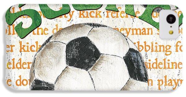Sports Fan Soccer IPhone 5c Case by Debbie DeWitt