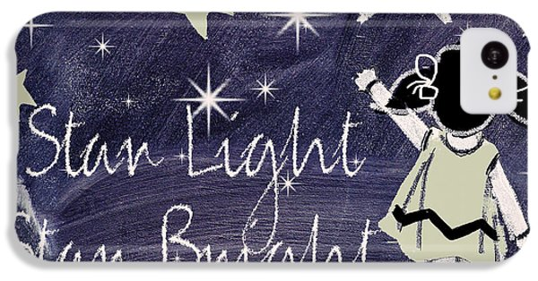Star Light Star Bright Chalk Board Nursery Rhyme IPhone 5c Case by Mindy Sommers
