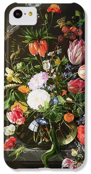 Still Life Of Flowers IPhone 5c Case by Jan Davidsz de Heem