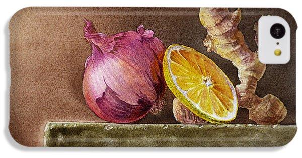 Still Life With Onion Lemon And Ginger IPhone 5c Case by Irina Sztukowski