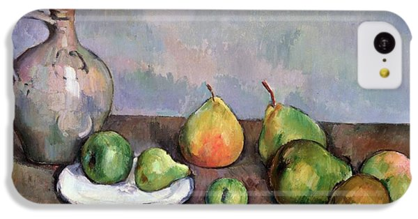Still Life With Pitcher And Fruit IPhone 5c Case by Paul Cezanne