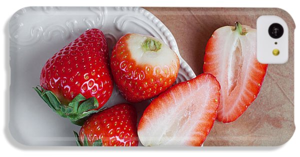 Strawberries From Above IPhone 5c Case by Tom Mc Nemar