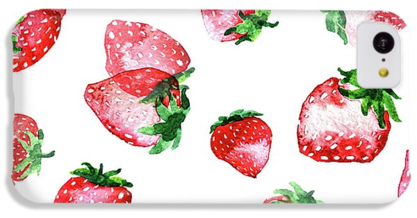 Strawberries IPhone 5c Case by Varpu Kronholm