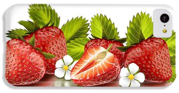 Strawberries IPhone 5c Case by Veronica Minozzi