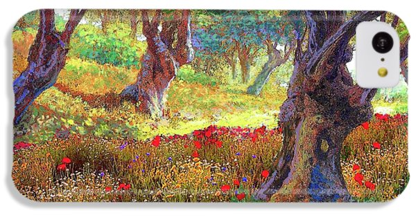 Tranquil Grove Of Poppies And Olive Trees IPhone 5c Case by Jane Small
