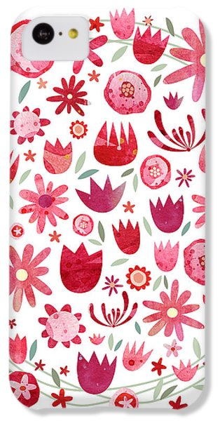 Summer Flower Circle IPhone 5c Case by Nic Squirrell