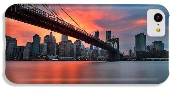 Sunset Over Manhattan IPhone 5c Case by Larry Marshall