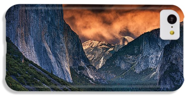 Sunset Skies Over Yosemite Valley IPhone 5c Case by Rick Berk