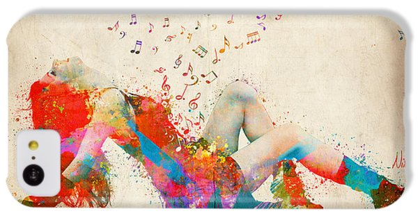 Sweet Jenny Bursting With Music IPhone 5c Case by Nikki Smith