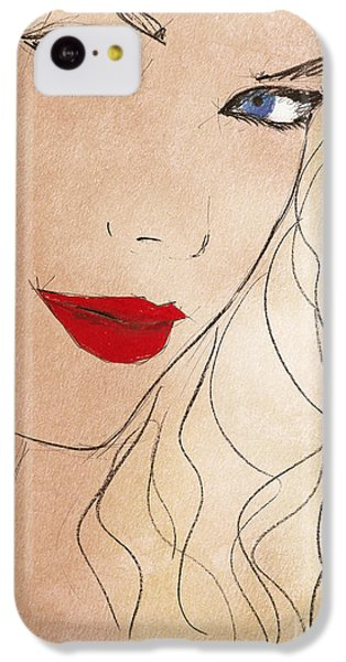 Taylor Red Lips IPhone 5c Case by Pablo Franchi