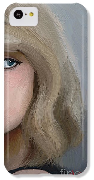 Taylor Swift  IPhone 5c Case by Barbara Stanley