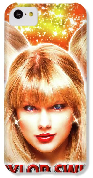 Taylor Swift - Beautiful Vision IPhone 5c Case by Robert Radmore